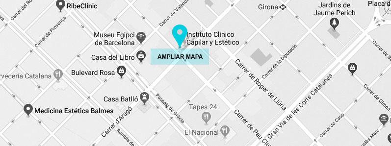 LOCALIZACION INSTITUTO CLÍNICO CAPILAR